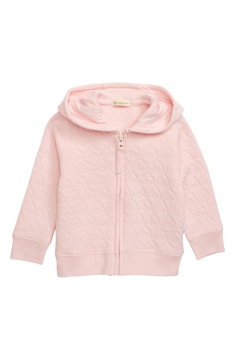 BURTS BEES Burt's Bees Organic Cotton Hooded Jacket, Main, color, BLOSSOM