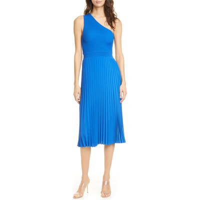 Ted Baker London Miriom One-Shoulder Knit Midi Dress, Blue