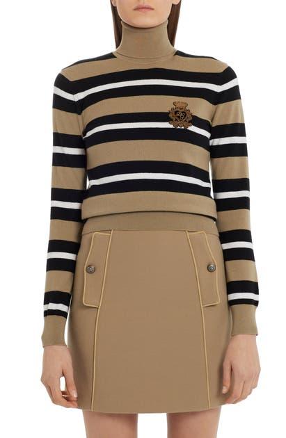 Dolce & Gabbana STRIPE TURTLENECK SWEATER