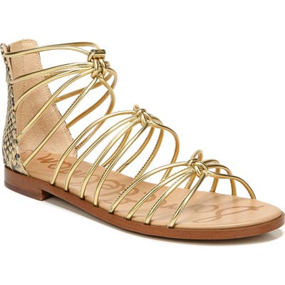 Sam Edelman Emi Strappy Sandal, Metallic