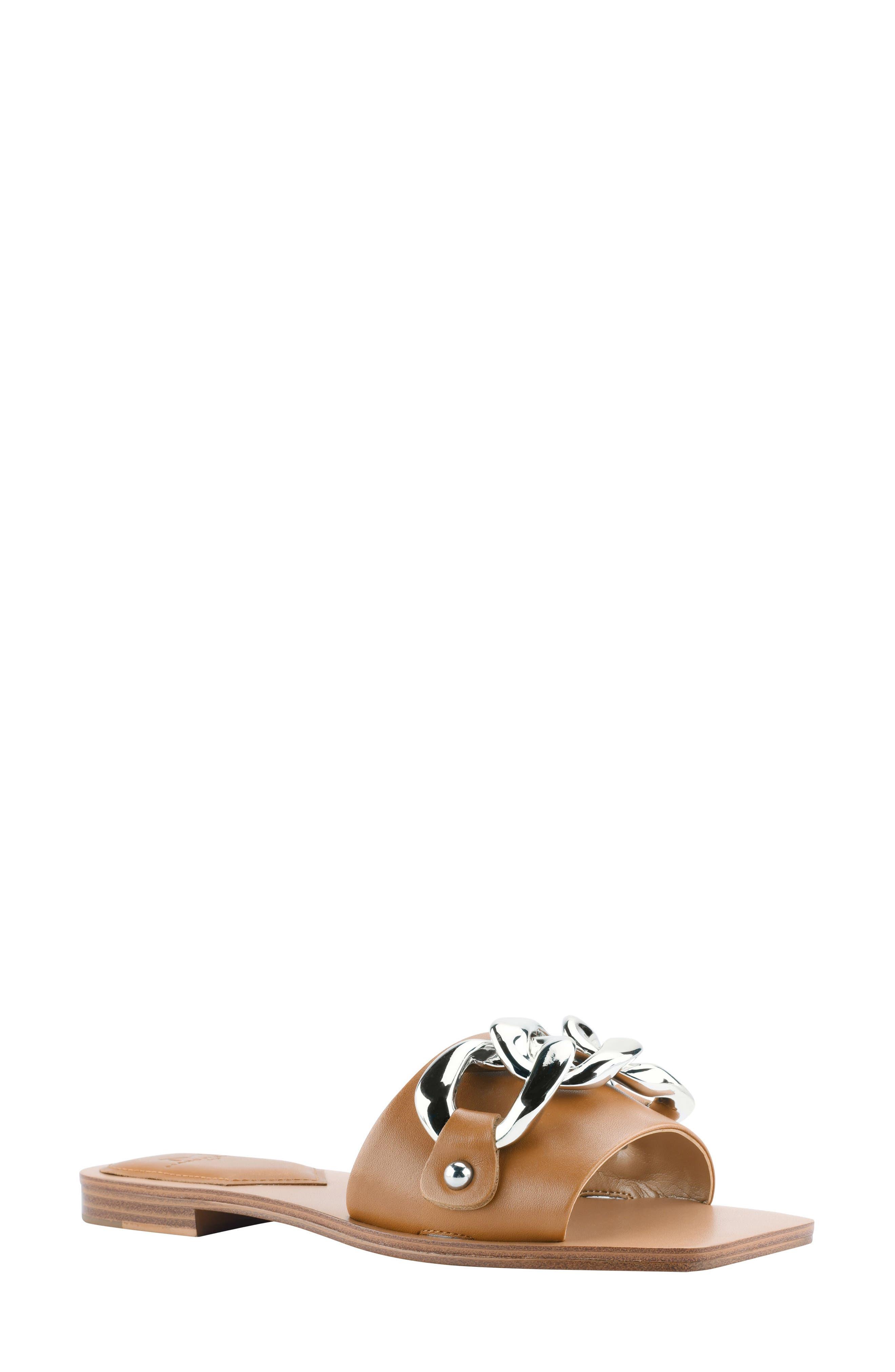 Women's Marc Fisher Rosely Chain Slide Sandal