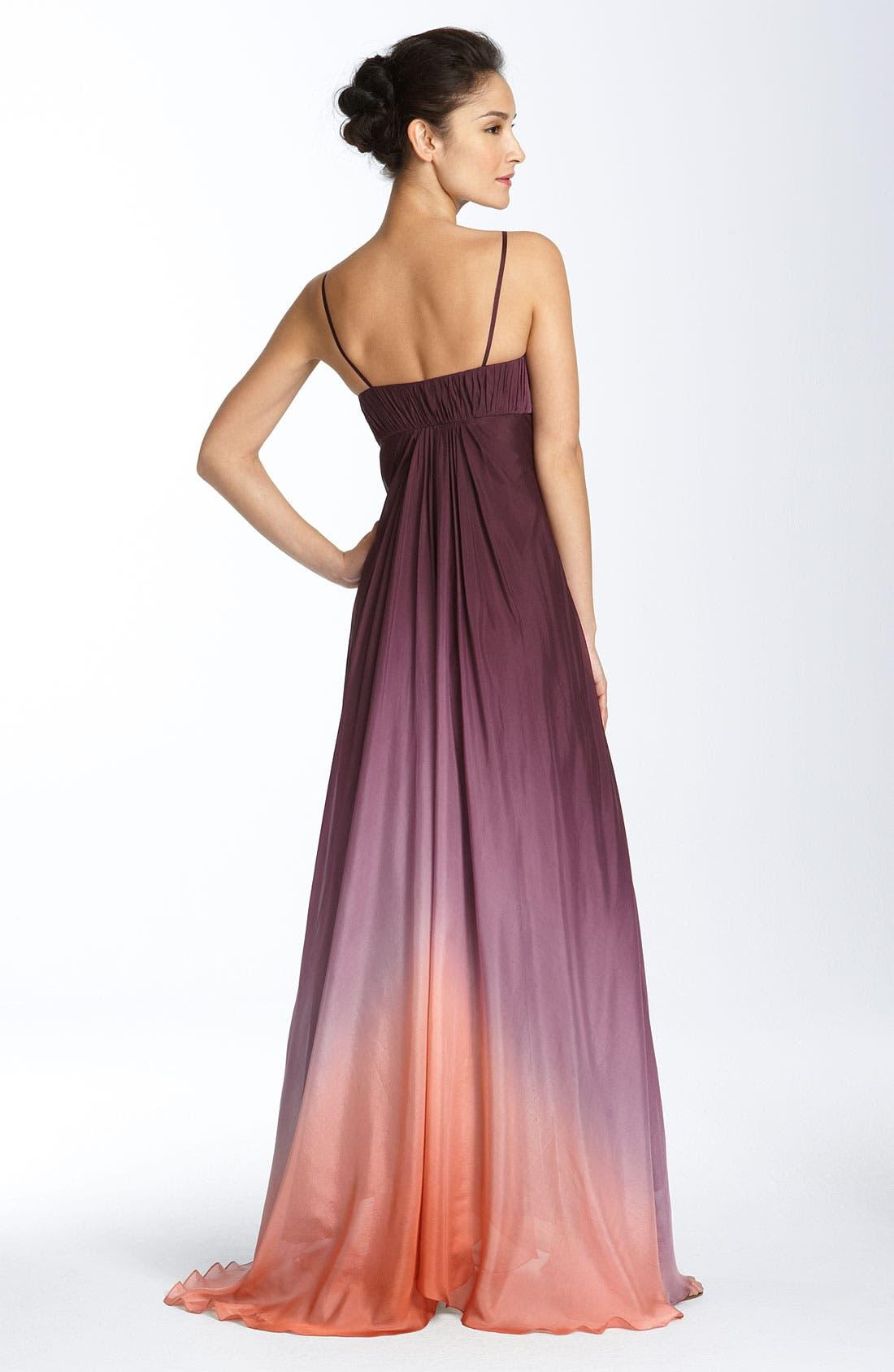 ,                             Ombré Chiffon Gown,                             Alternate thumbnail 3, color,                             500