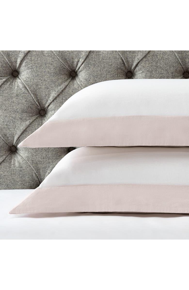 THE WHITE COMPANY Portobello Pillow Sham, Main, color, PETAL/ WHITE