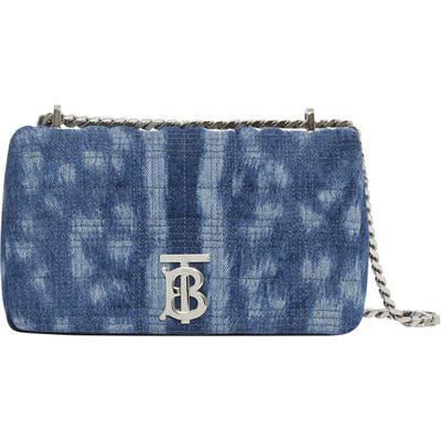 Burberry Small Lola Quilted Denim Shoulder Bag - Blue