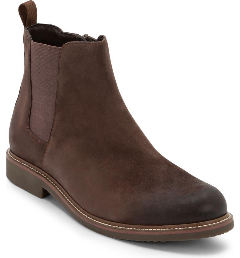 BLONDO Grant Waterproof Chelsea Boot, Main, color, BROWN NUBUCK