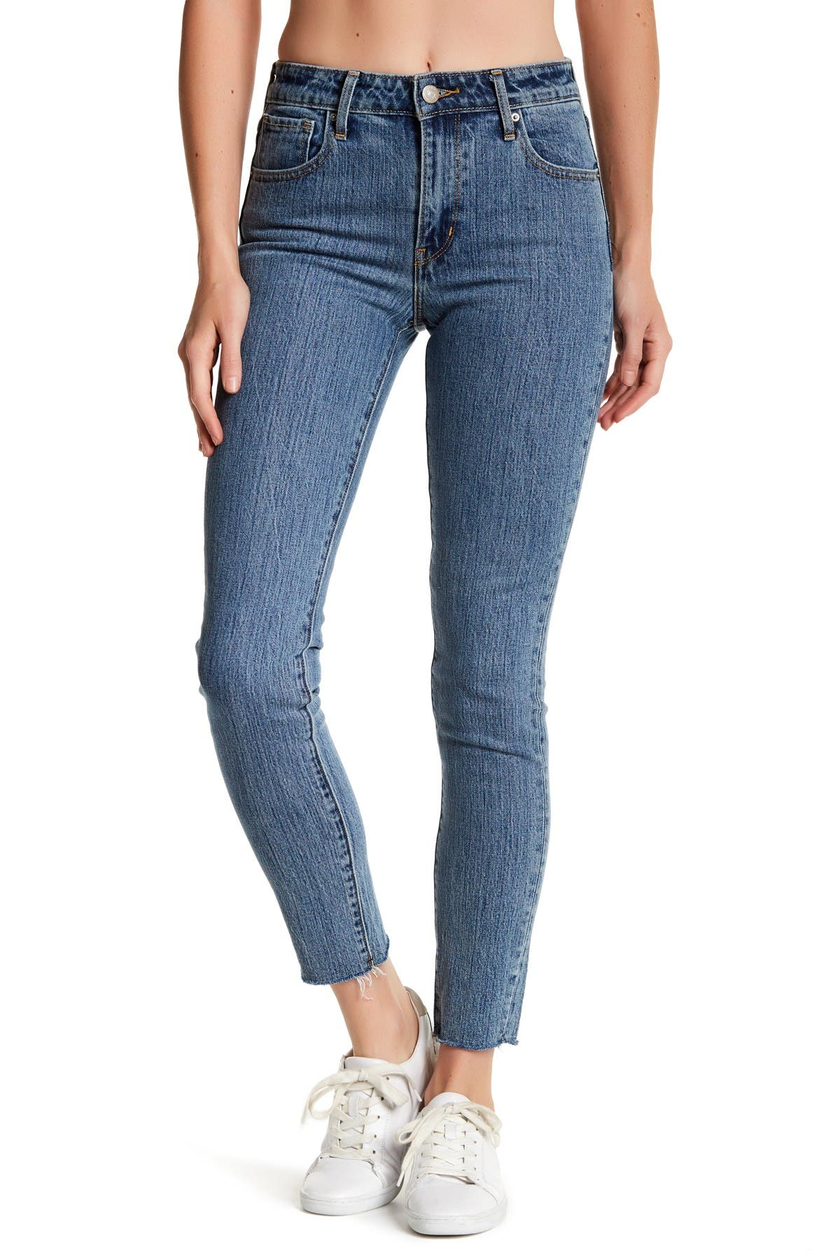 "Image of Levi's 721 High Rise Raw Hem Skinny Jean - 30-32"" Inseam"
