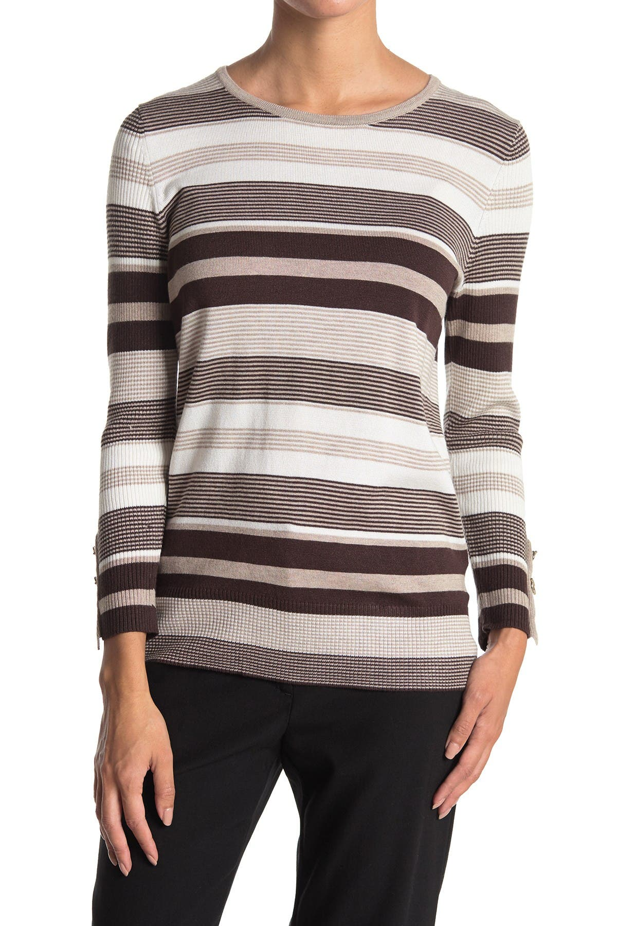 Image of JOSEPH A Striped Boatneck Sweater