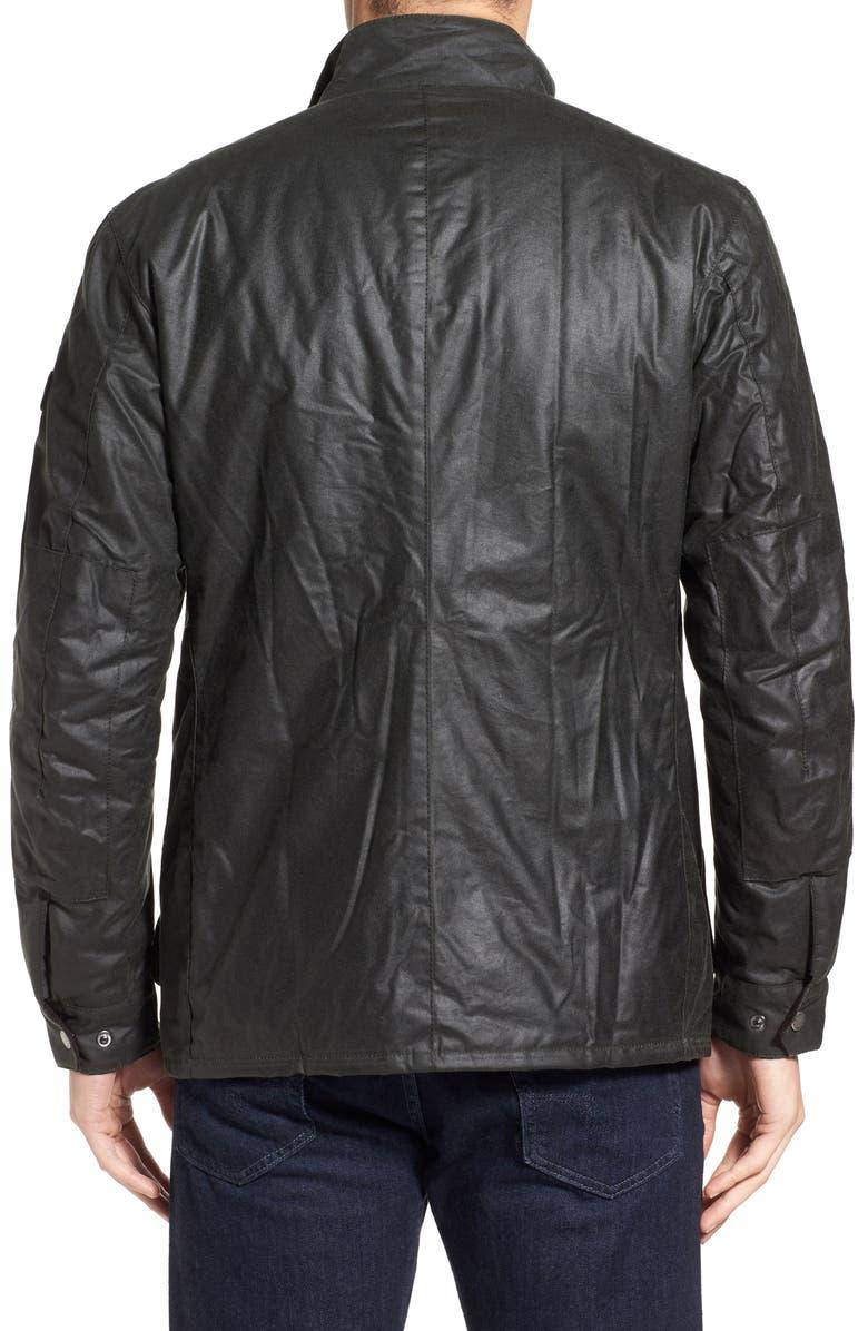 BARBOUR 'Duke' Regular Fit Waterproof Waxed Cotton Jacket, Main, color, 302