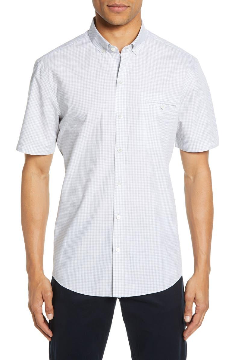 ZACHARY PRELL Cechini Regular Fit Short Sleeve Sport Shirt, Main, color, 050