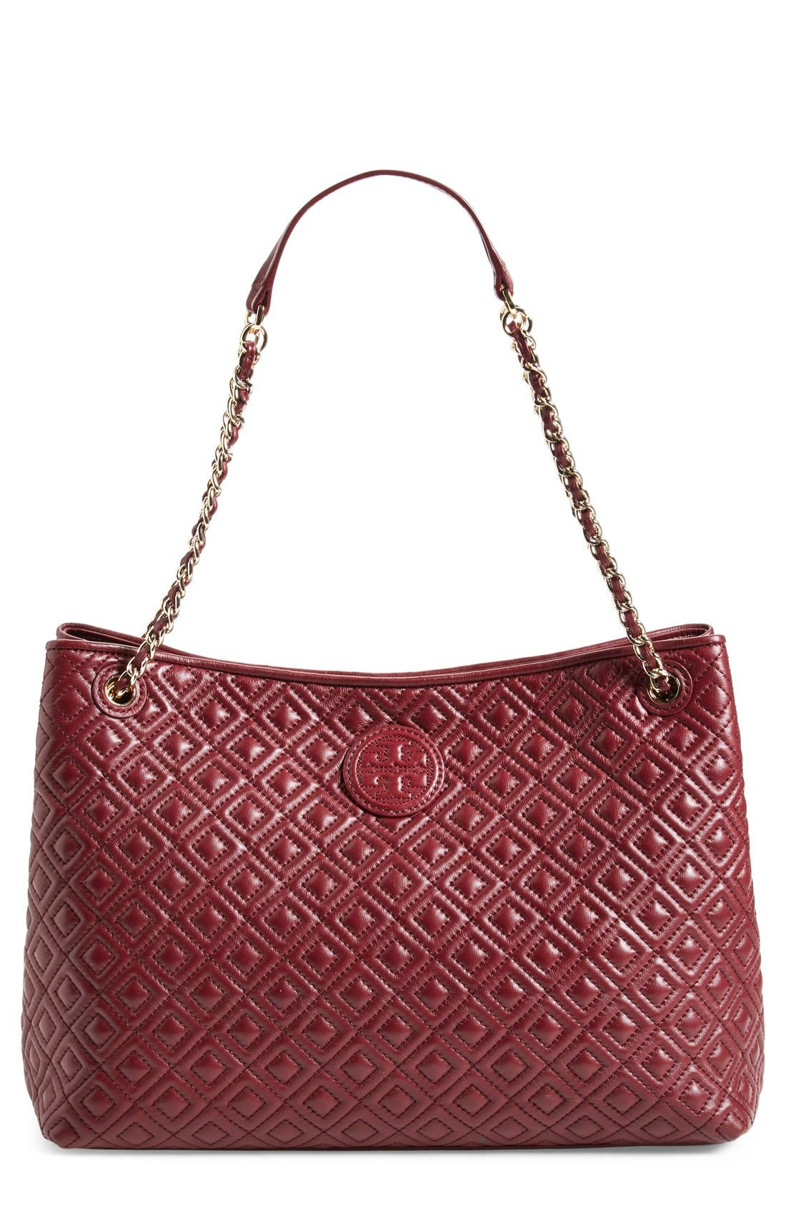 ,                             'Marion' Diamond Quilted Leather Tote,                             Main thumbnail 10, color,                             600