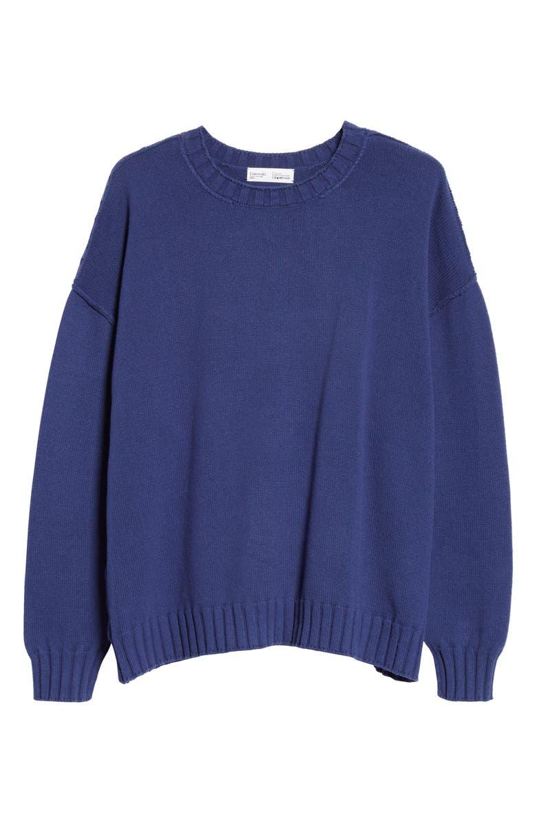 ENTIREWORLD Recycled Cotton Crewneck Sweater, Main, color, INDIGO
