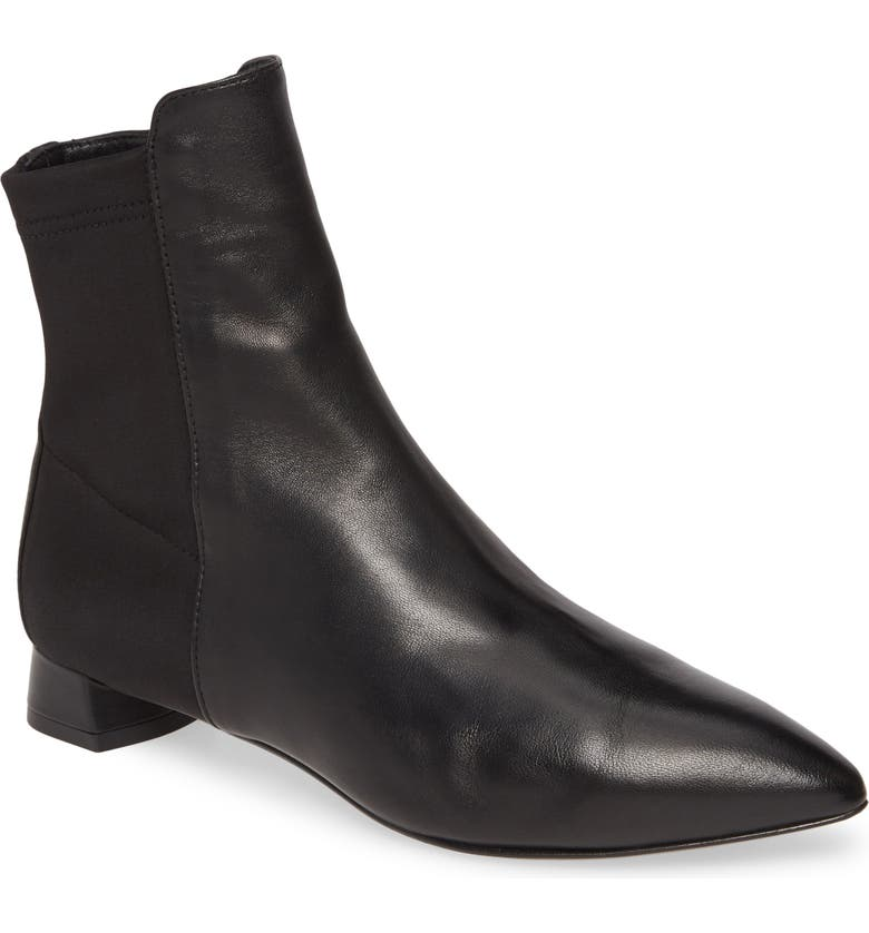AGL Pointy Toe Bootie, Main, color, BLACK