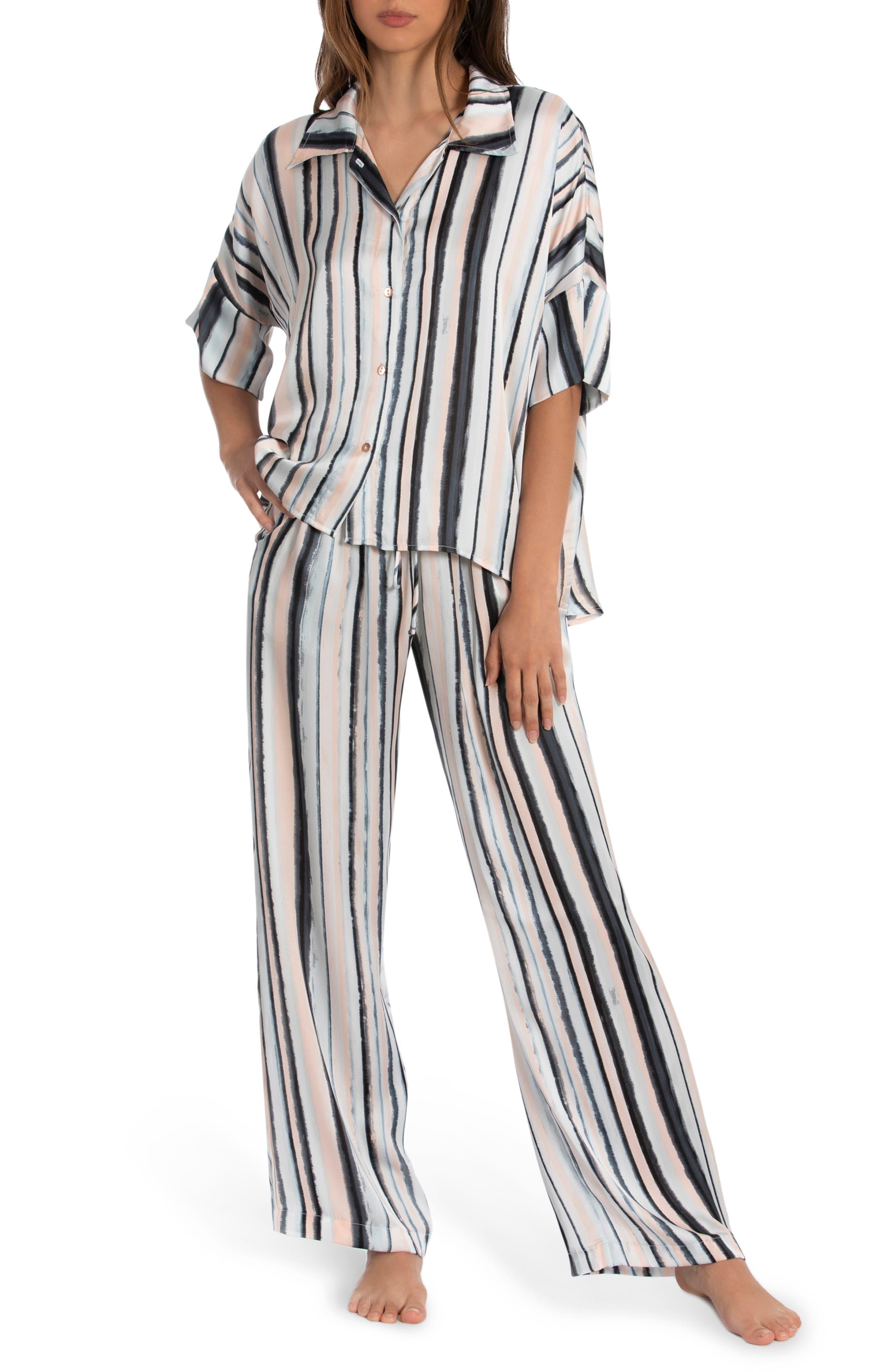 Bali Stripe Satin Pajamas
