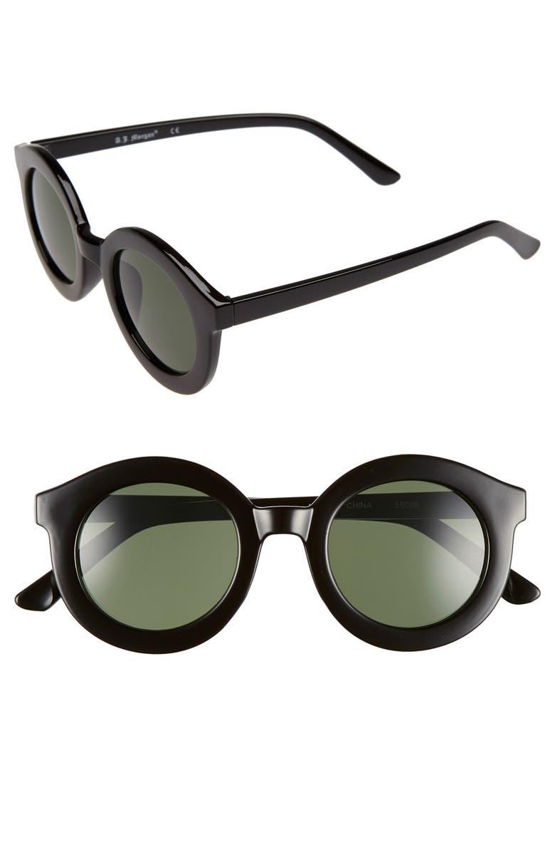 A.J. MORGAN 'Dingdong' 44mm Sunglasses, Main, color, 001