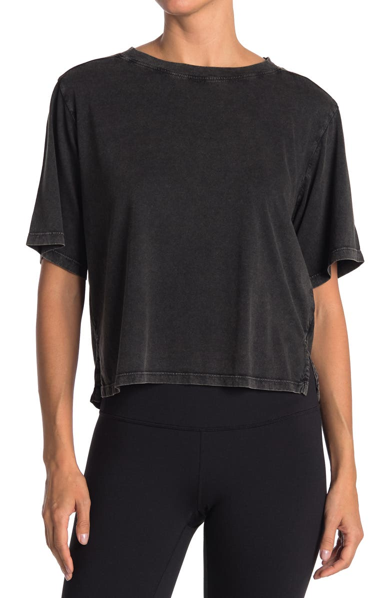 Z BY ZELLA Free Ride Washed T-Shirt, Main, color, BLACK