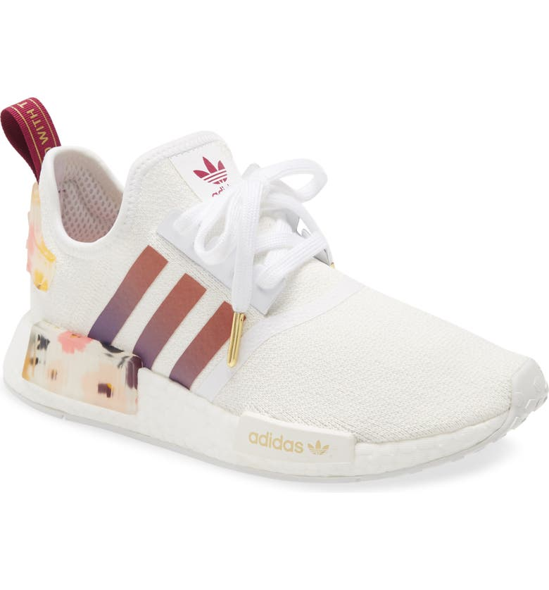 ADIDAS NMD_R1 Sneaker, Main, color, WHITE/ POWER BERRY
