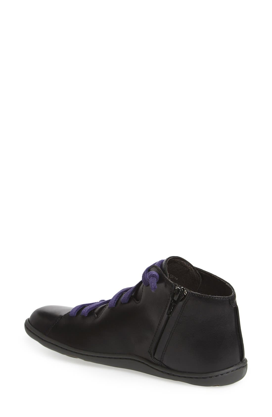 ,                             'Peu Cami' Mid Sneaker,                             Alternate thumbnail 2, color,                             BLACK LEATHER