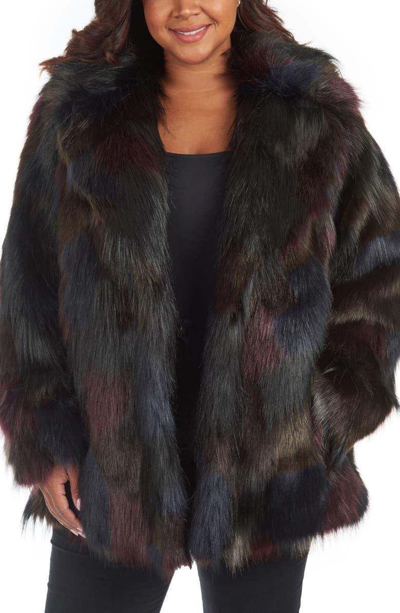 RACHEL RACHEL ROY Faux Fur Coat, Main, color, MULTI