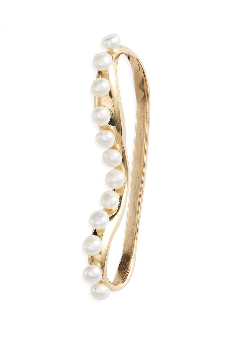 FARIS Pearl Ear Cuff, Main, color, BRONZE