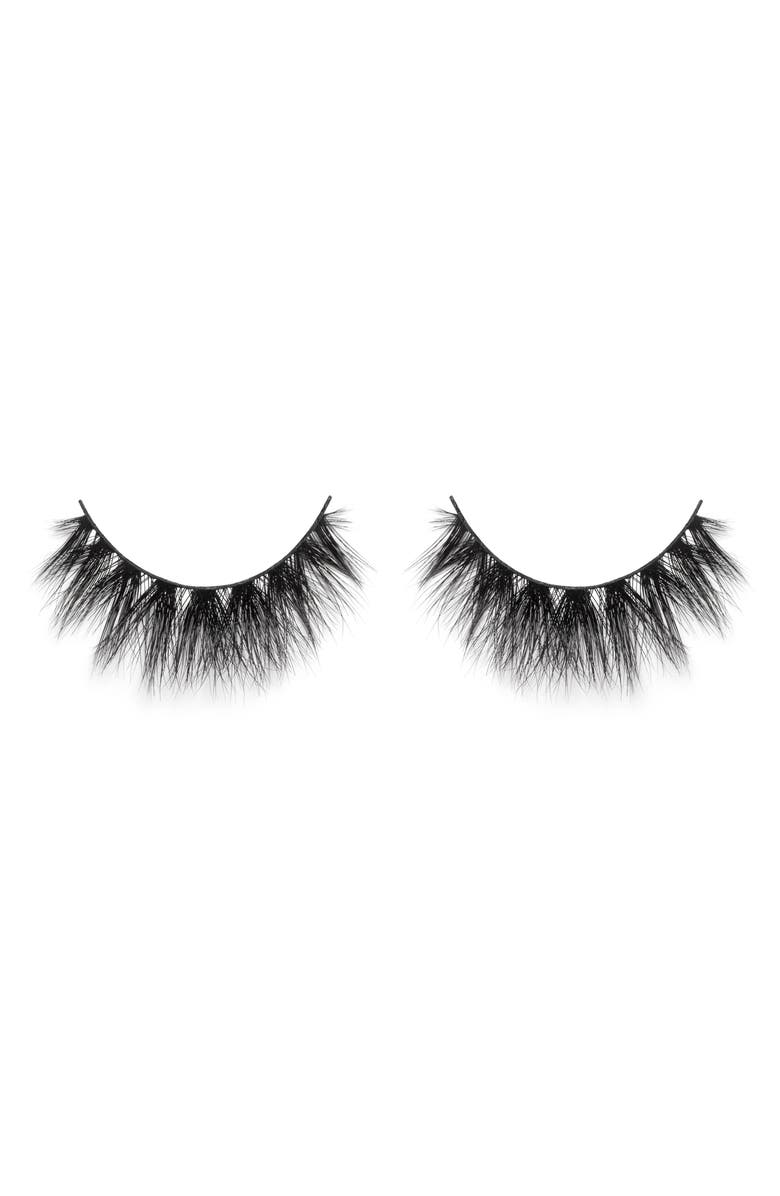 LILLY LASHES Mykonos 3D Faux Mink False Lashes, Main, color, 000