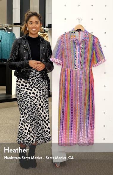 Ash Plaid Silk Midi Shirtdress, sales video thumbnail