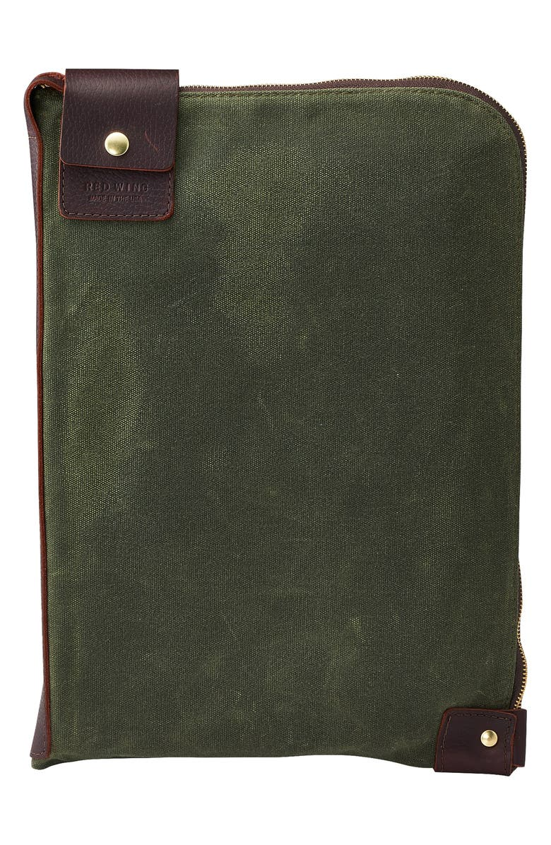 RED WING Wacouta Large Zip Gear Pouch, Main, color, BRIAR/OLIVE