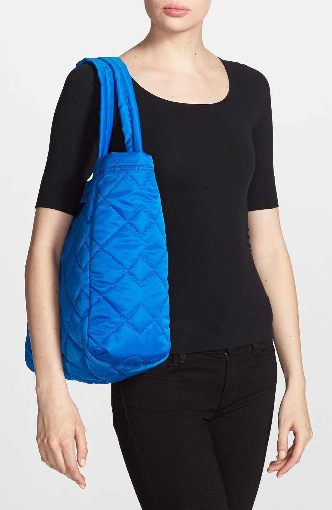 ,                             MARC BY MARC JACOBS 'Crosby' Quilted Nylon Tote,                             Alternate thumbnail 14, color,                             481