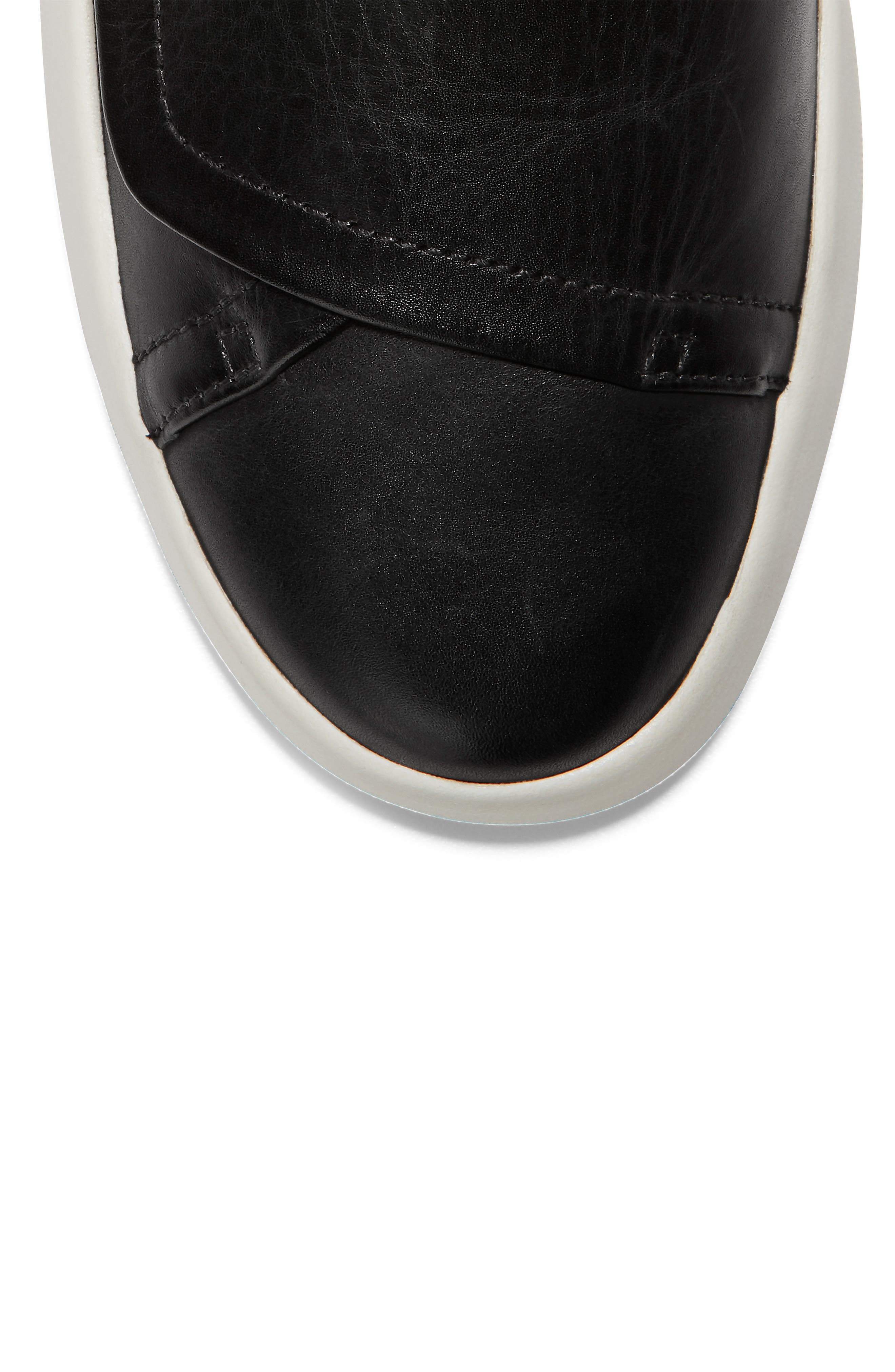 ,                             GrandPro Flatform Sneaker,                             Alternate thumbnail 7, color,                             BLACK LEATHER
