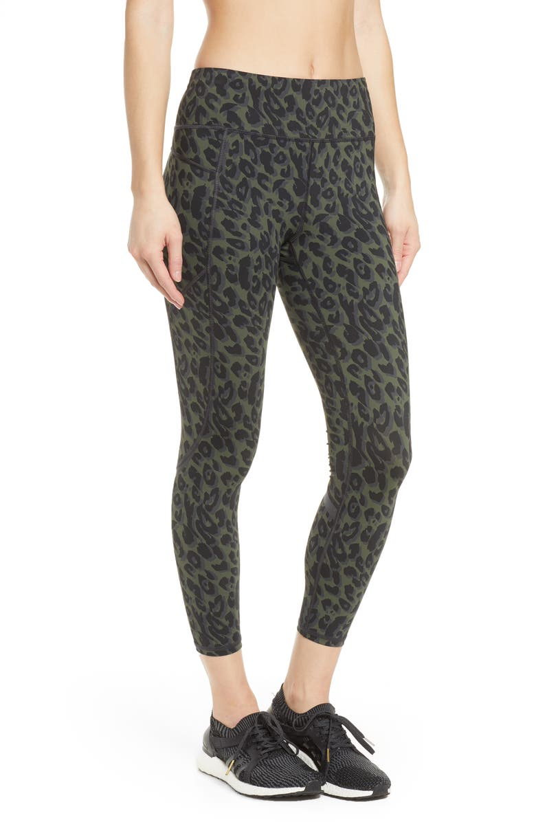SWEATY BETTY Zero Gravity 7/8 Run Leggings, Main, color, OLIVE LEOPARD PRINT