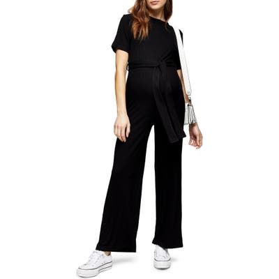 Topshop Maternity Ribbed Jumpsuit, US (fits like 2-4) - Black
