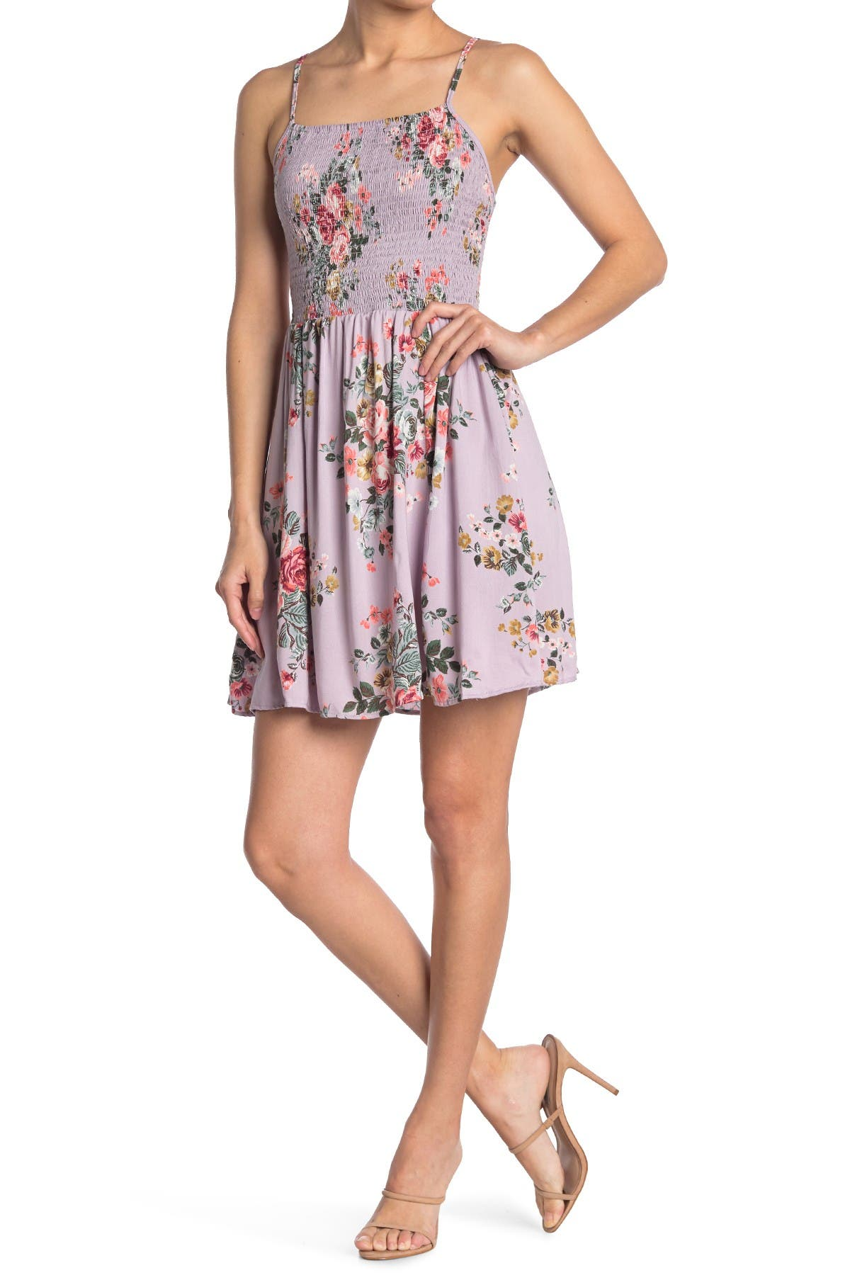 Image of Angie Floral Smocked Mini Dress