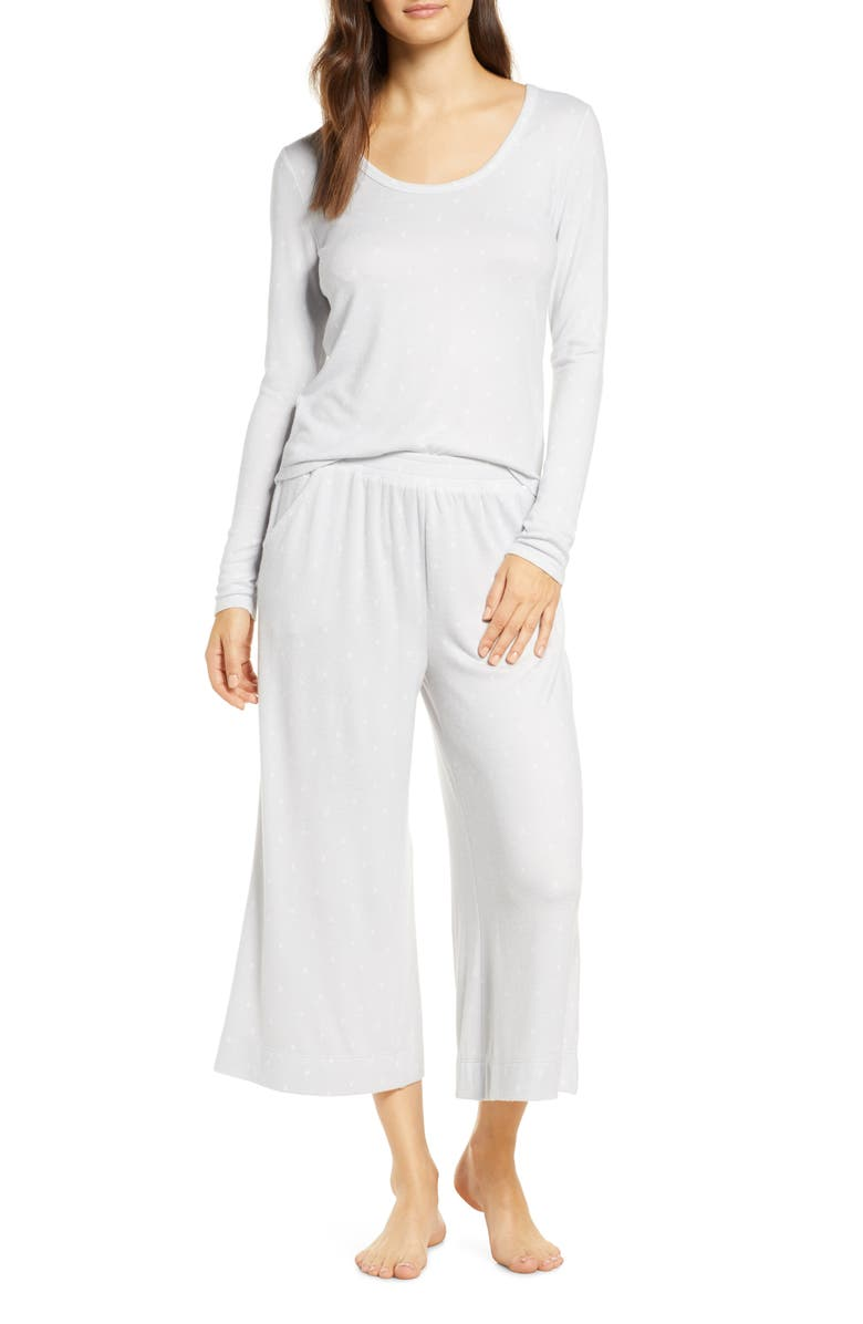 BP. Cuddle Me Crop Pajamas, Main, color, GREY MICRO SKETCH DOT