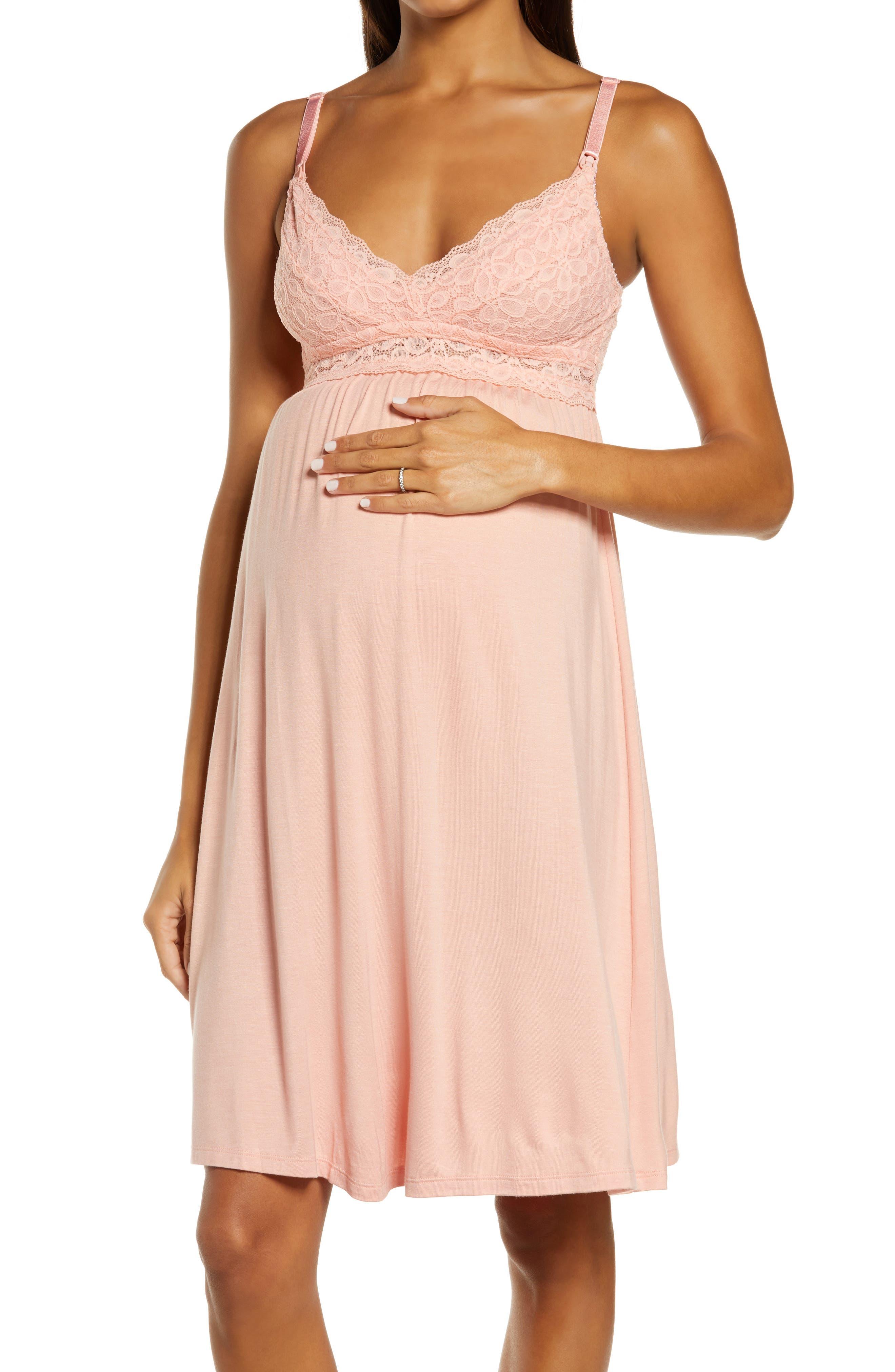 Tallulah Lace Trim Maternity/nursing Chemise