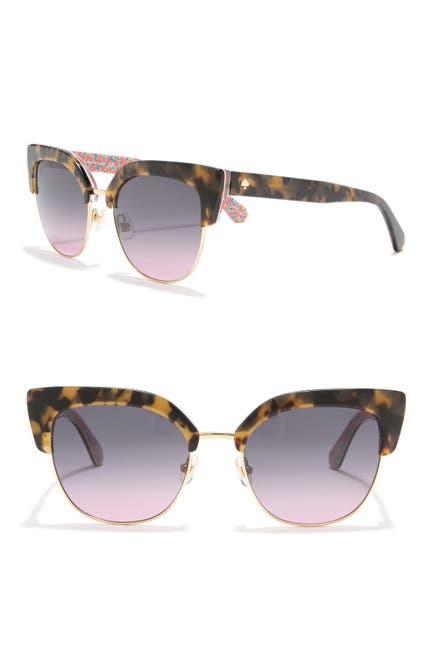 Image of kate spade new york karri 53mm clubmaster sunglasses