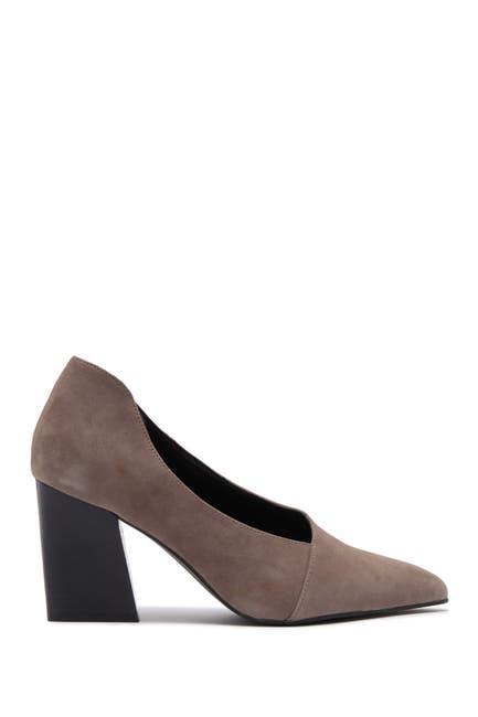 Image of Golo Noe Leather Pointed Toe Block Heel Pump