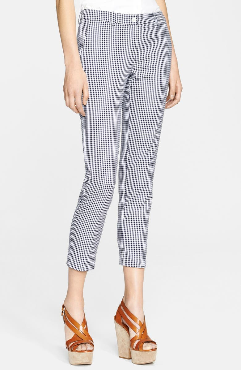 MICHAEL KORS 'Samantha' Gingham Pants, Main, color, 126