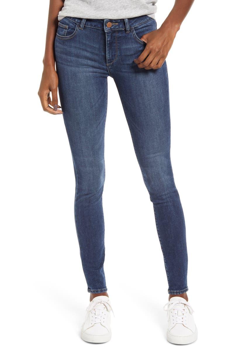 DL1961 Instasculpt Emma Ankle Skinny Jeans, Main, color, BLAIR