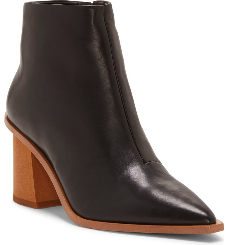 1.STATE Kelte Pointy Toe Bootie, Main, color, BLACK LEATHER