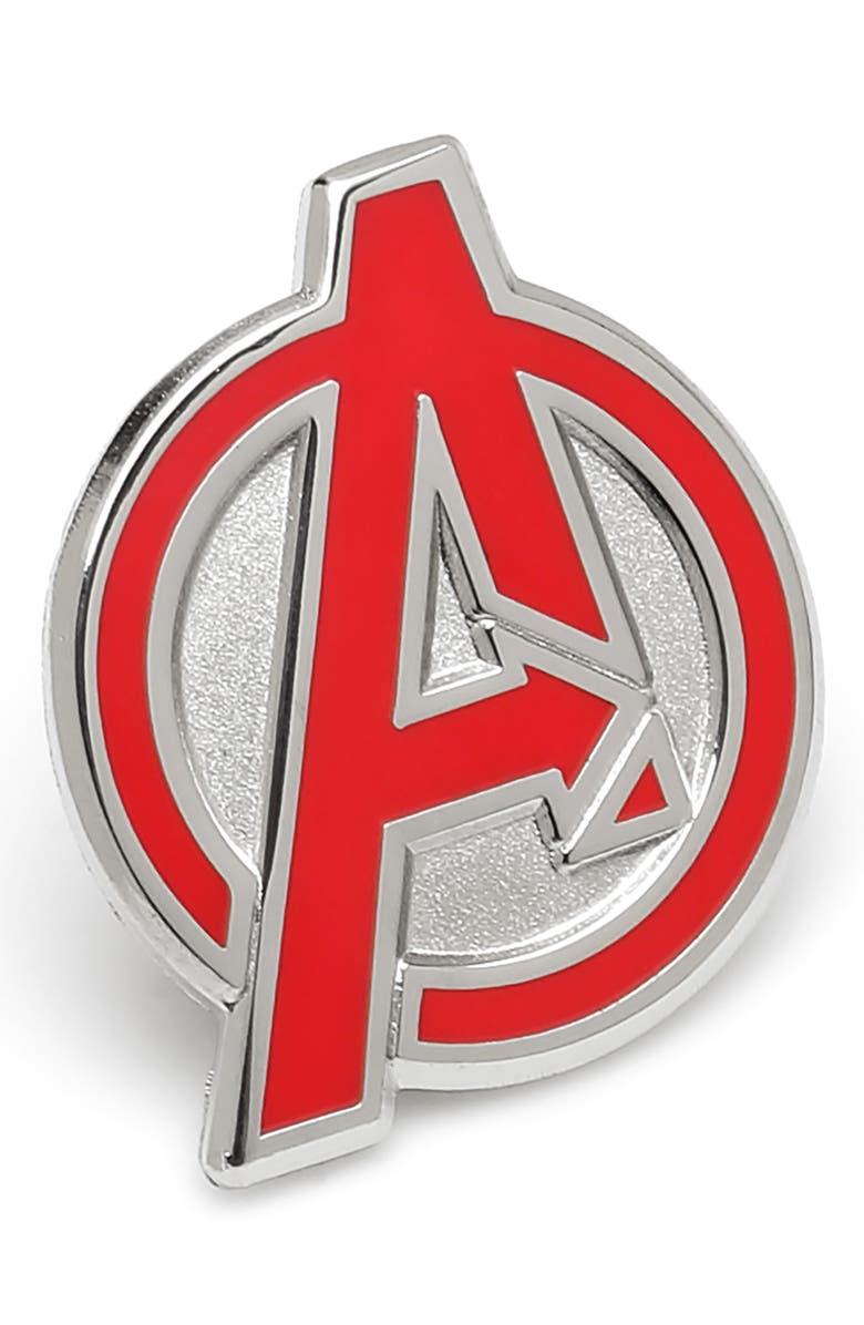 CUFFLINKS, INC. Avengers Lapel Pin, Main, color, RED
