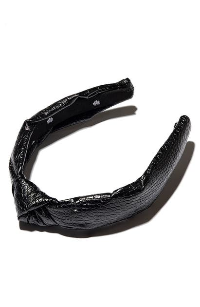 Lele Sadoughi Headbands CROC EMBOSSED KNOTTED HEADBAND