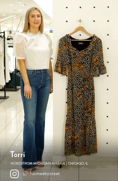 Floral Ruffle Georgette A-Line Dress, sales video thumbnail