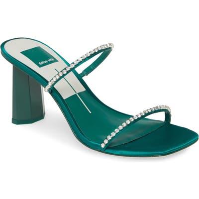 Dolce Vita Naylin Crystal Embellished Slide Sandal, Green
