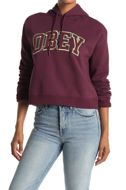 Image of Obey Conrad Cropped Hoodie
