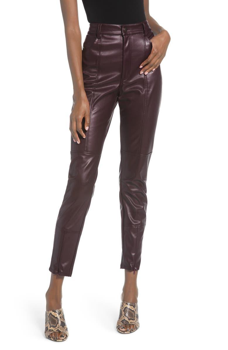 MINKPINK Lindsay Biker Pants, Main, color, 930