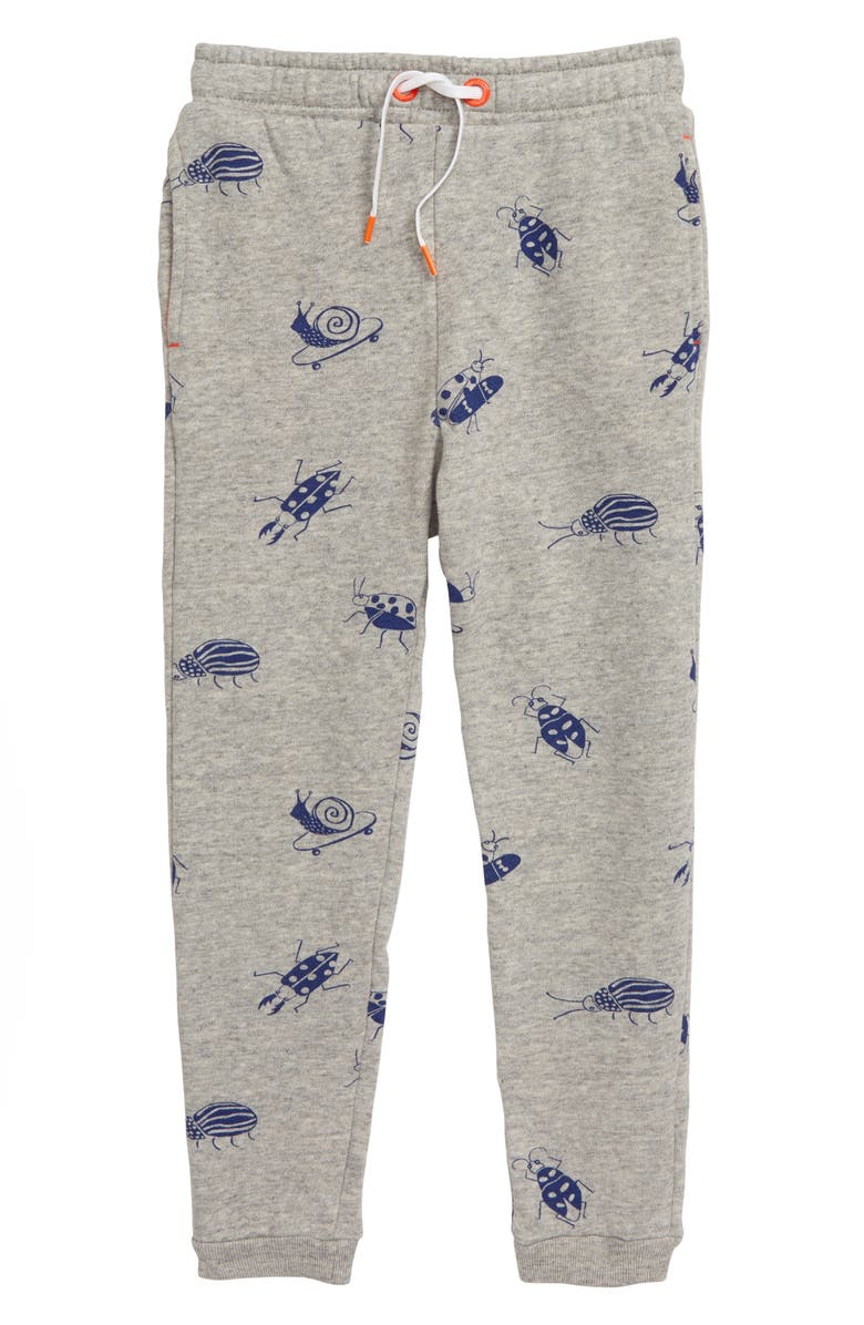 MINI BODEN Skate Bugs Track Pants, Main, color, GREY MARL