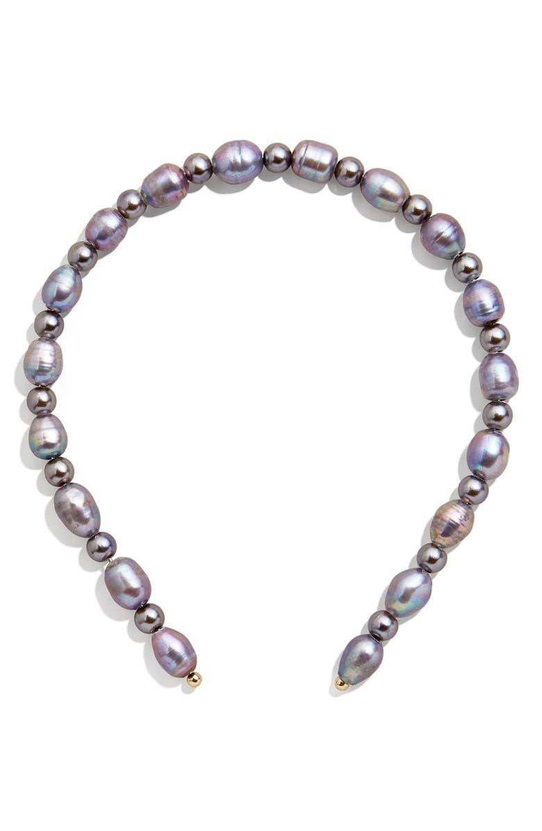 BAUBLEBAR Robin Freshwater & Imitation Pearl Headband, Main, color, 600