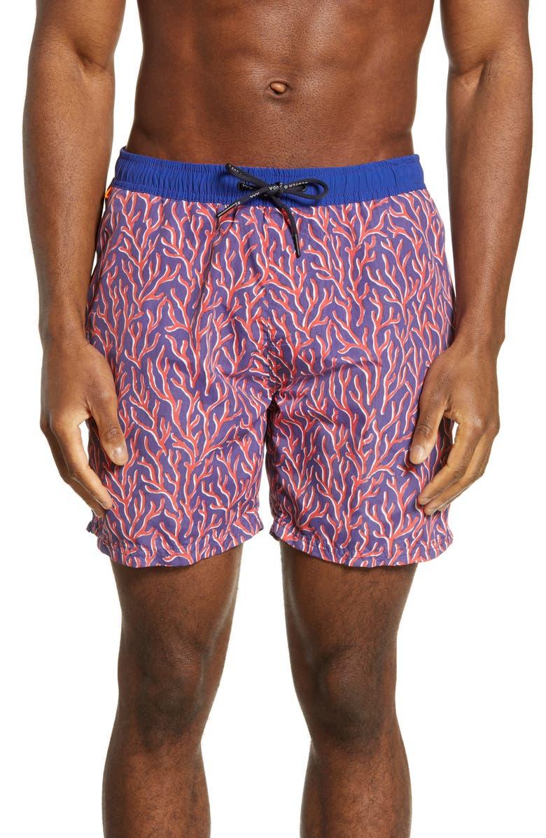 SCOTCH & SODA Classic Swim Trunks, Main, color, COMBO B