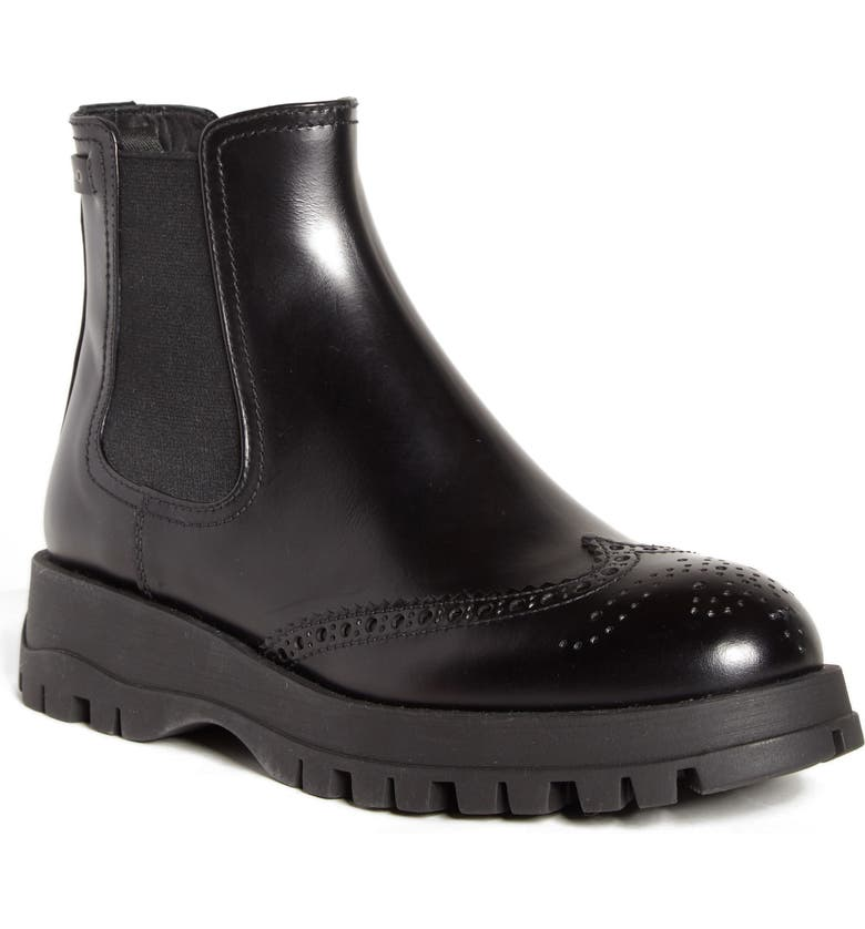 9d7eca07 Prada Lug Sole Chelsea Boot (Women)   Nordstrom