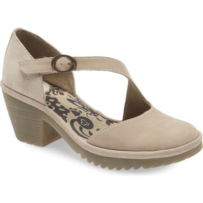 Fly London Wako Pump - Beige