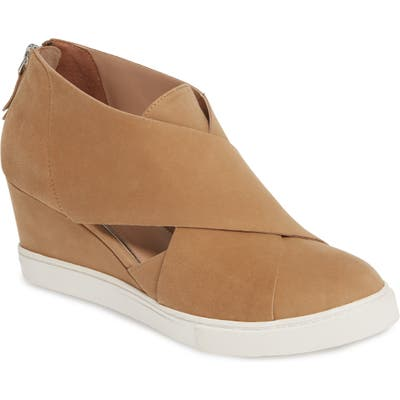Linea Paolo Faith Wedge Sneaker, Brown